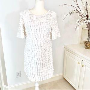 3.1 Phillip Lim Eyelash Fringe Cotton Dress S